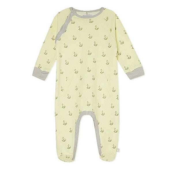 The Little Tailor, Rocking Horse Print Baby Grow