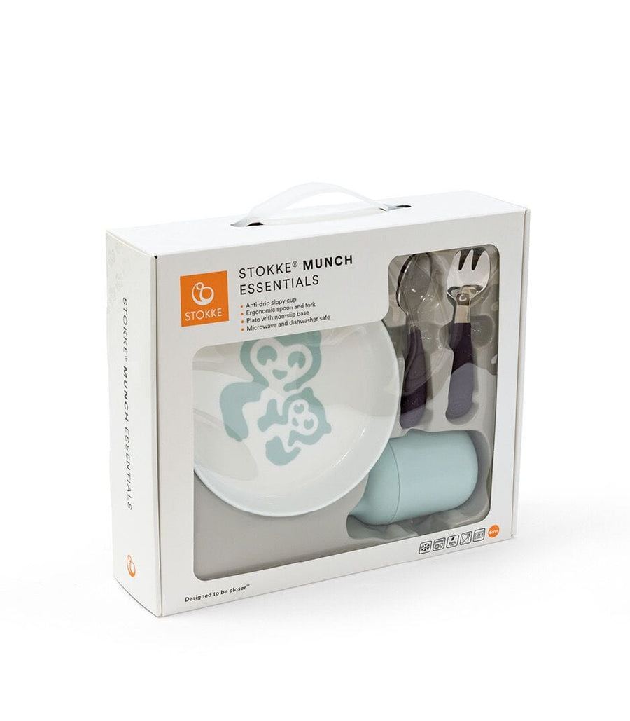 Stokke® Munch Essentials Dinner Set Soft Mint - Bygge Bo