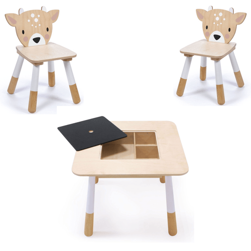 Tenderleaf, Wooden Table & Chair Set - Bygge Bo