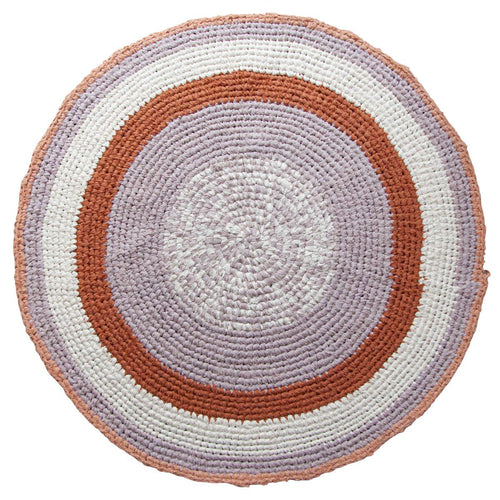 Sebra, Hand Crocheted Floor Mat - Morning Cloud Pink - Bygge Bo