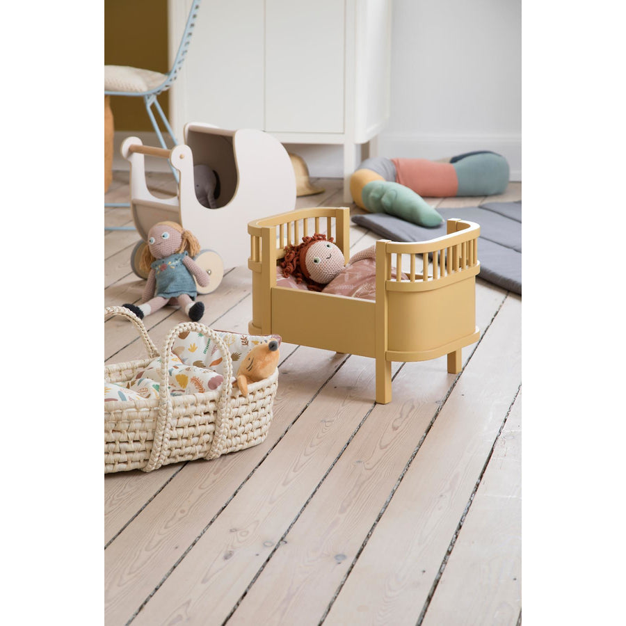 Sebra, Wooden Dolls Pram - Dusty Pink - Bygge Bo