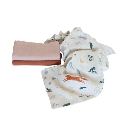 Sebra, 3 Pack Muslin Cloth, Daydream Collection