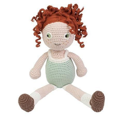 Sebra, Eucalyptus Green Dress Dolls Clothes - Bygge Bo