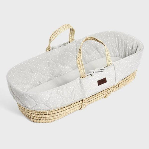 The Little Green Sheep, Natural Moses Basket & Mattress - Bygge Bo