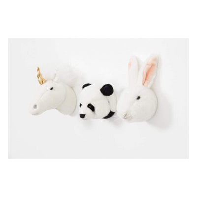Wild & Soft, Soft Trophy Heads 3 piece Gift Box - 20cm - Bygge Bo