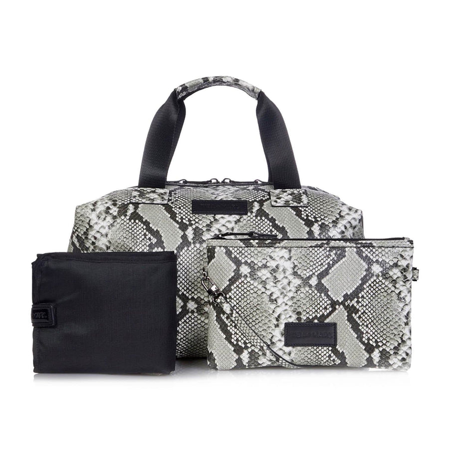Tiba & Marl, Raf Holdall Tonal Grey Snake Changing Bag