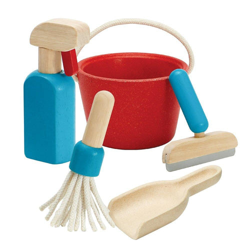 Plan Toys, Cleaning Set - Bygge Bo