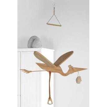 Quax, Wooden Bird Mobile - Bygge Bo