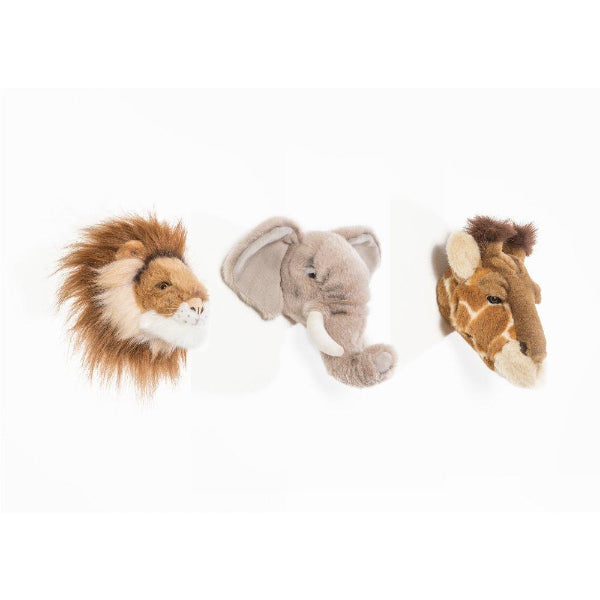 Wild & Soft, Soft Trophy Heads 3 piece Gift Box - 20cm Lovely