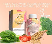 Load image into Gallery viewer, Myrtle & Maude, Folic Acid with Folate Complex Pregnancy Vitamin - Bygge Bo