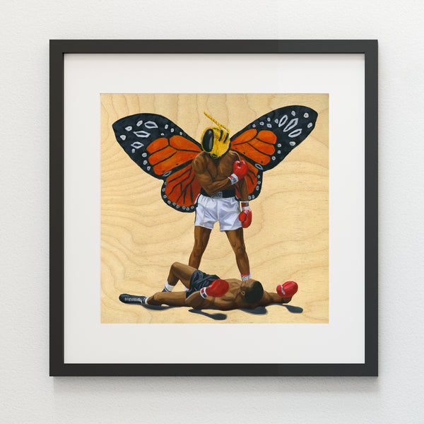 Float Like a Butterfly, Sting Like A Bee - Paper Print