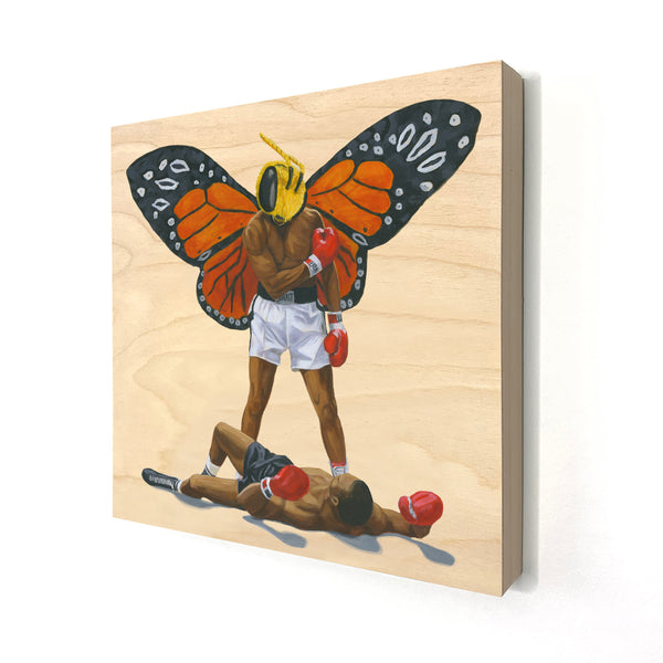 Float Like A Butterfly, Sting Like A Bee - Wood Print