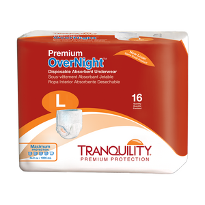 Adult Absorbent Underwear Tranquility® Premium OverNight™ Pull On  Disposable Heavy Absorbency