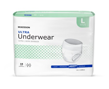 Adult Absorbent Underwear McKesson Ultra Pull On  Disposable Heavy Absorbency