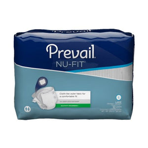 Adult Incontinent Brief Prevail® Nu-Fit® Tab Closure  Disposable Heavy Absorbency