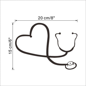 Medical Stethoscope laptop sticker