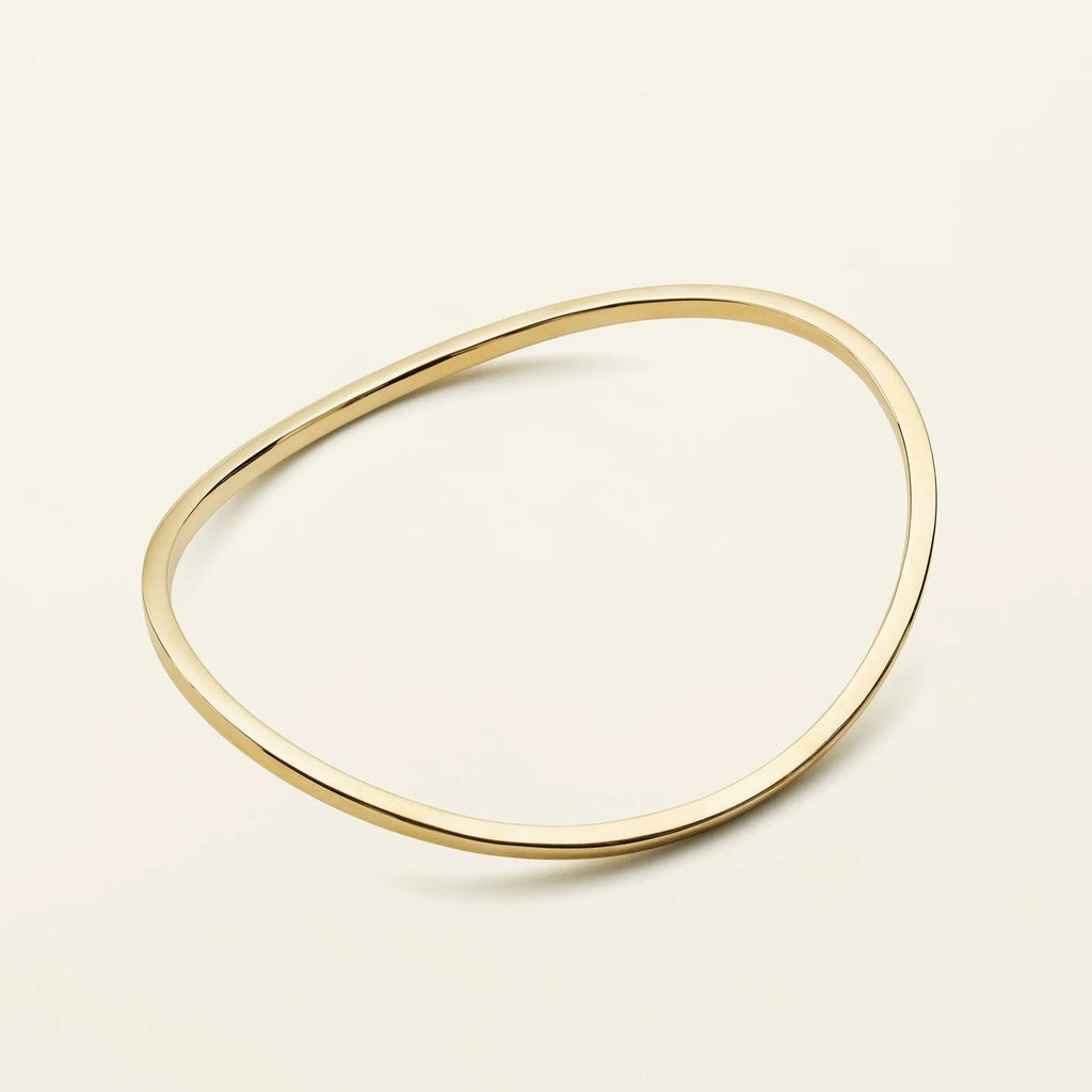 CLASSIC WAVE BANGLE - forgyldt sølv