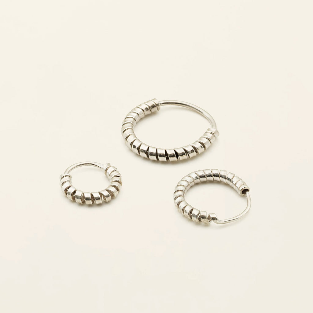 MINI SPIRAL HOOPS - sølv