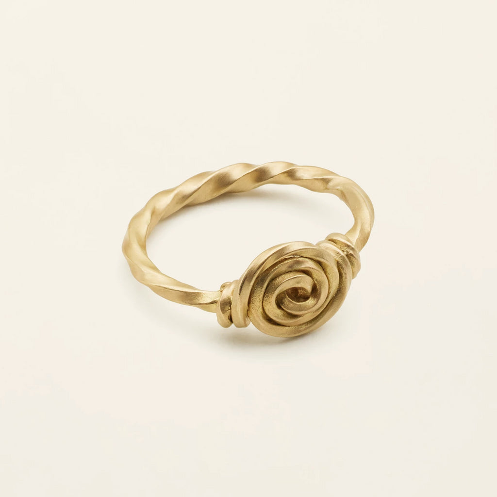 SWIRL RING - 18 karat gold