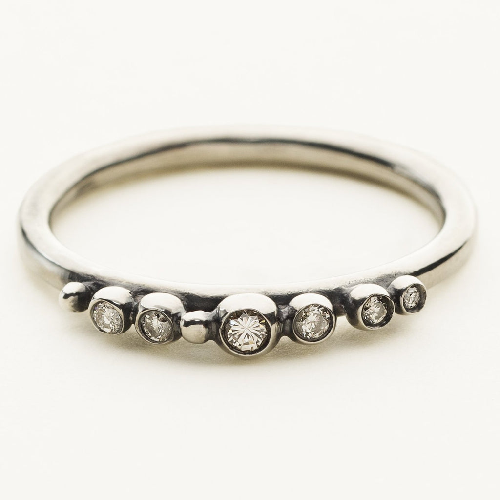 TIARA RING - sølv med diamanter