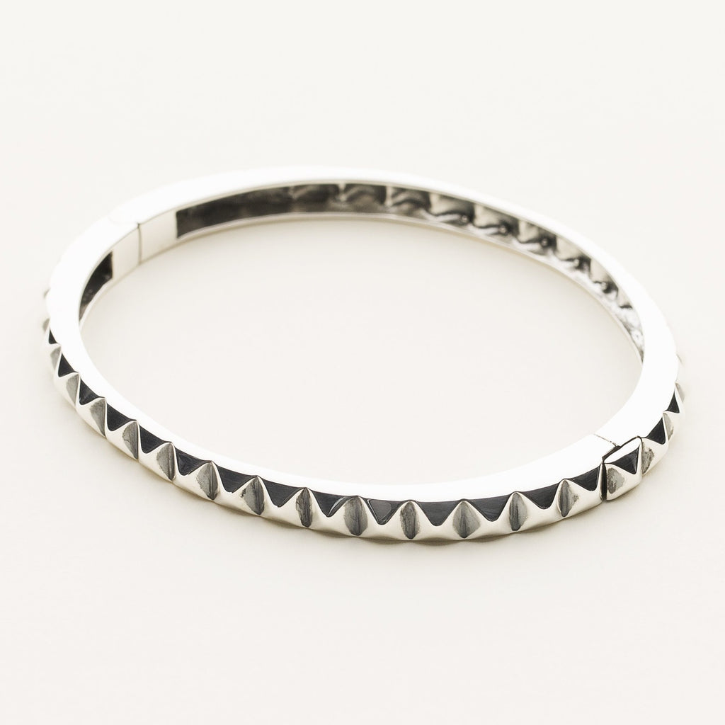 STUD BANGLE - sølv