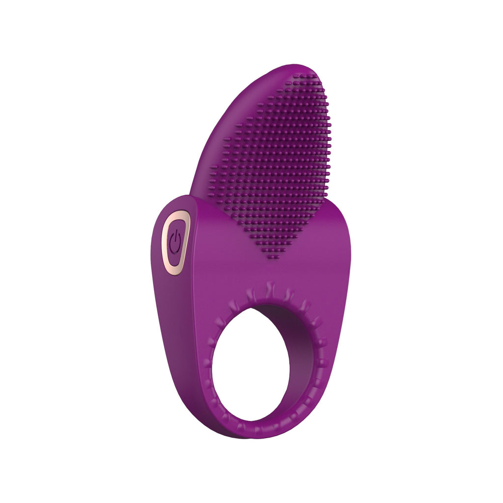 10 Speed Cock Ring - Purple