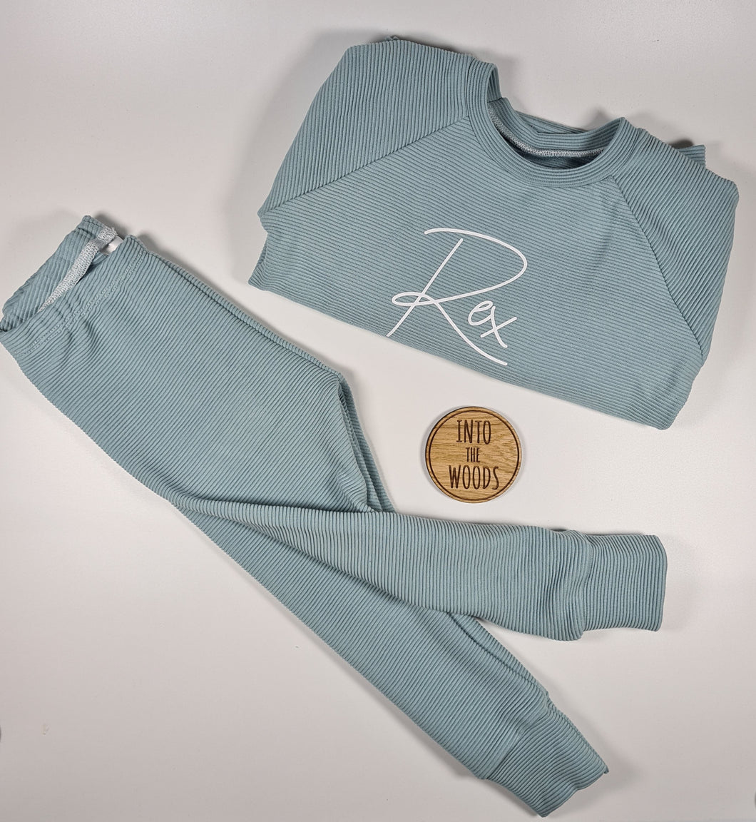 Long Rib Personalised Loungewear