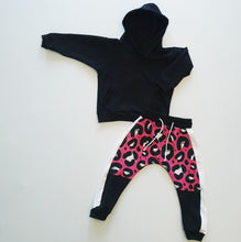 Load image into Gallery viewer, Ready to Post Pink Leopard On Track Joggers