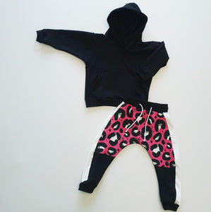 Ready to Post Pink Leopard On Track Joggers