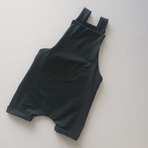 Ready to Post Dark Green Short Dungarees