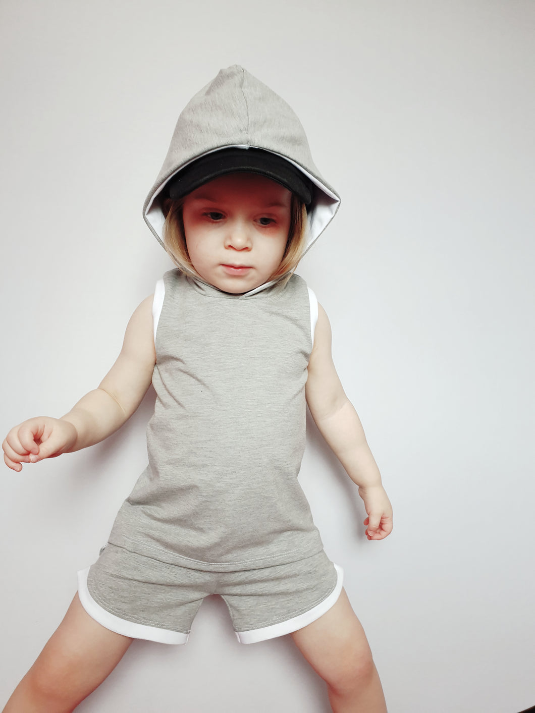 Ready to Post Grey Hooded Vest