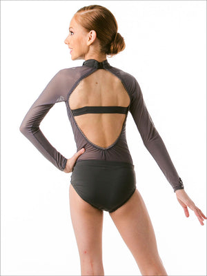 Gris Sheer Leotard