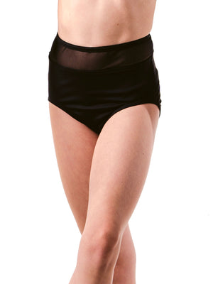 Basic Lycra and Mesh High Waist Brief