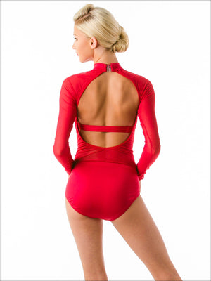 Rouge Sheer Leotard