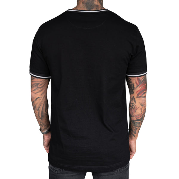 REVIVE RINGER BLACK TEE