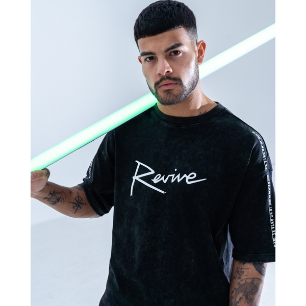REVIVE ALL RIGHTS RESERVED WASHED HEAVY COTTON TEE