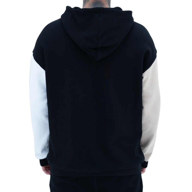 CONTRAST PANEL HOODED SWEATSHIRT
