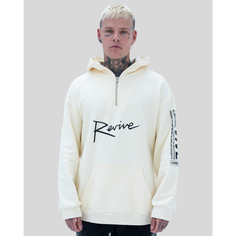 REVIVE ALL RIGHTS RESERVED HEAVY COTTON HOODED SWEATSHIRT