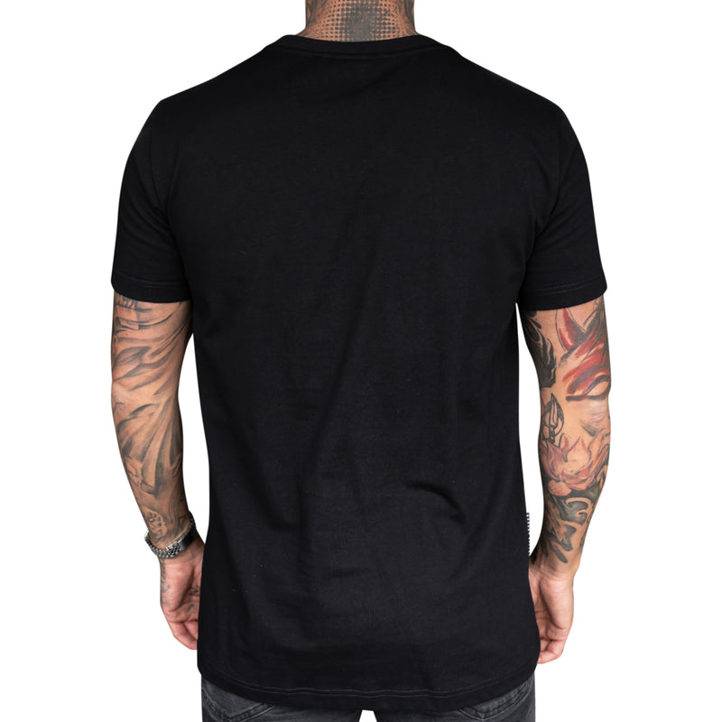 REVIVE VARSITY BLACK TEE