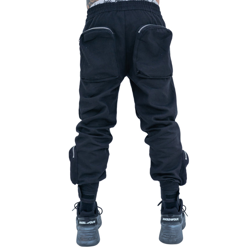 REVIVE ULTRA UTILITY CARGO PANTS - BLACK