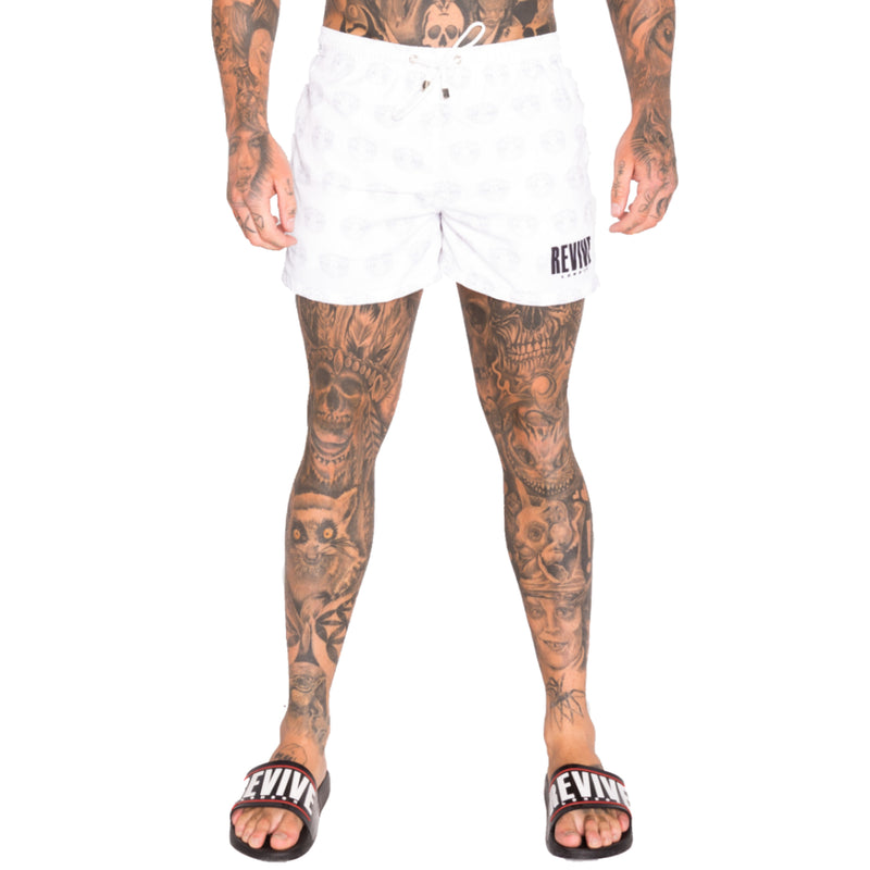 SKULLS SWIM SHORTS - WHITE