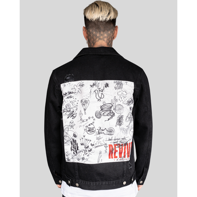 REVIVE BLACK DESTROYED ATTITUDE JACKET