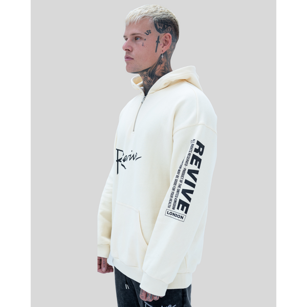 All Rights Reserved Hoodie Beige
