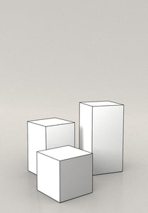 display plinths set of three