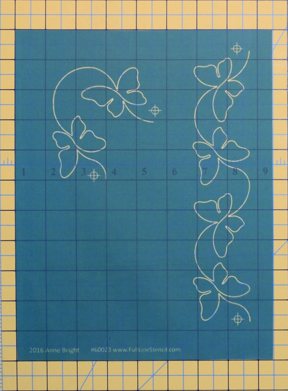 Full Line Stencil Butterfly Border