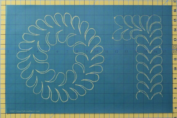 Full Line Stencil Feather Wreath and Easy Border