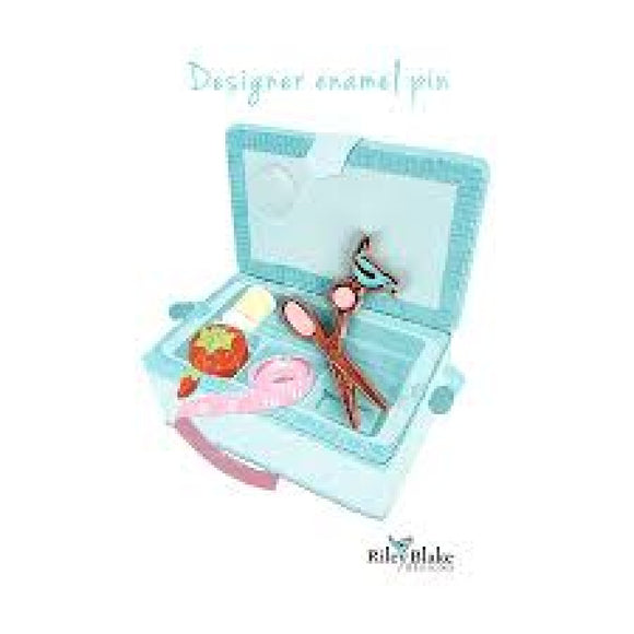 Designer Enamel Scissors Pin