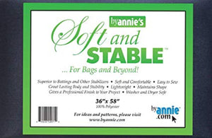 ByAnnie Soft and Stable Black 1 yard