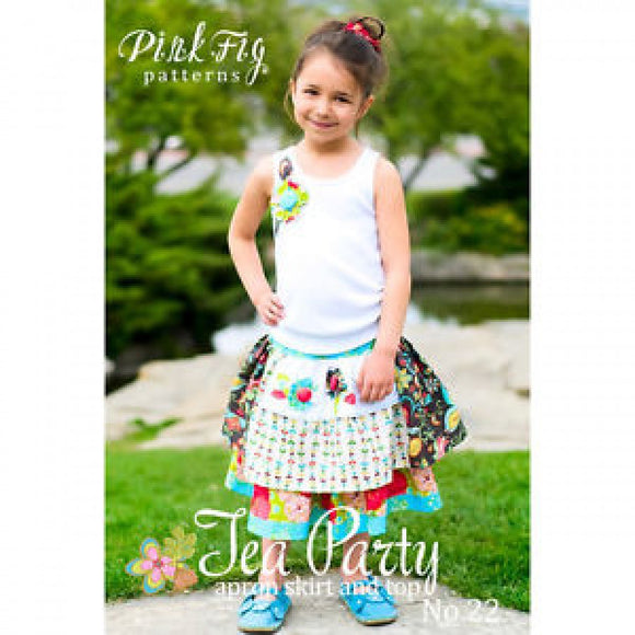 Pink Fig Patterns Tea Party Apron Skirt and Top Pattern