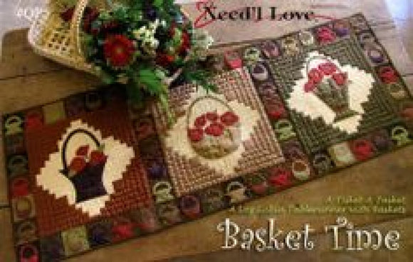 Needle Love Basket Time Table Runner Pattern